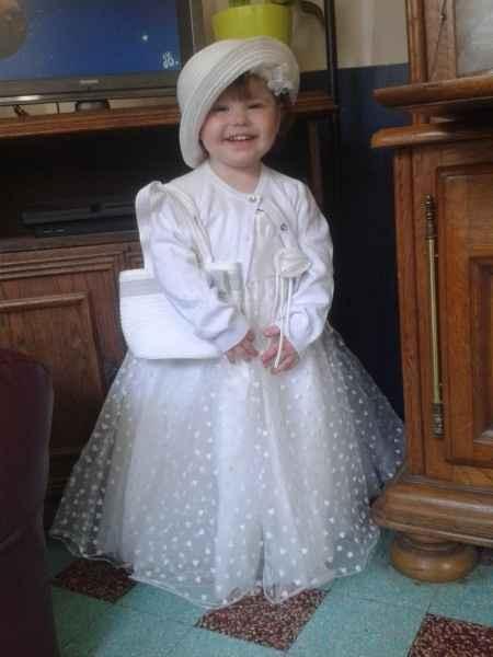 Essayage déffinitif de la robe de notre fille