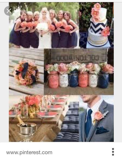 Mariage Aux Couleurs Bleu Marine Et Corail Decoration Forum