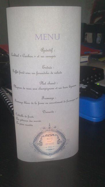 Bien connu Menu sur papier calque - Décoration - Forum Mariages.net IB05