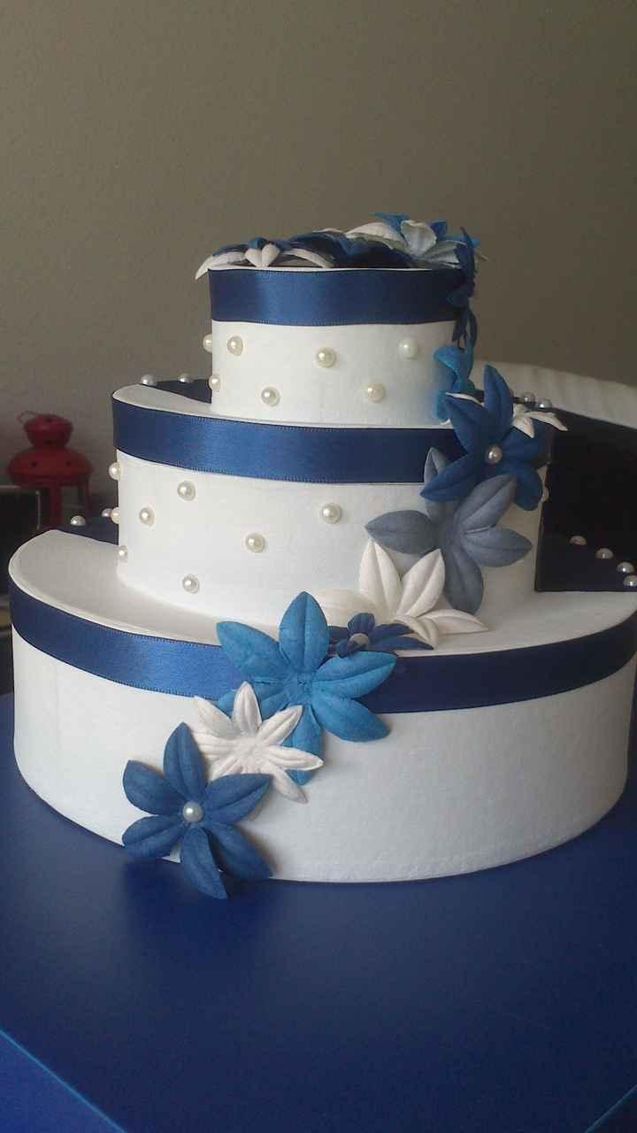 Urne wedding cake version blanche