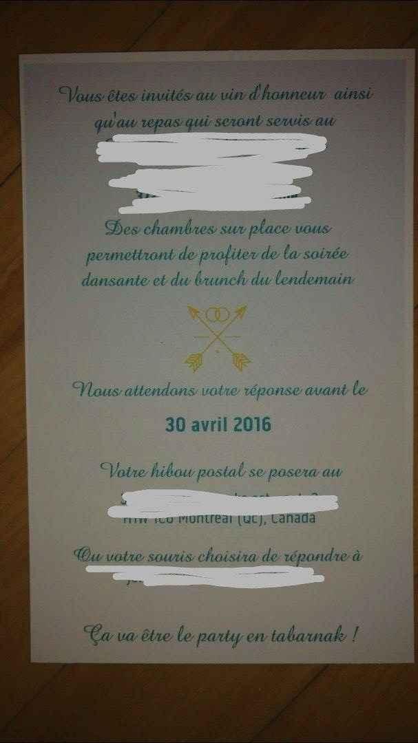 Invitation Verso