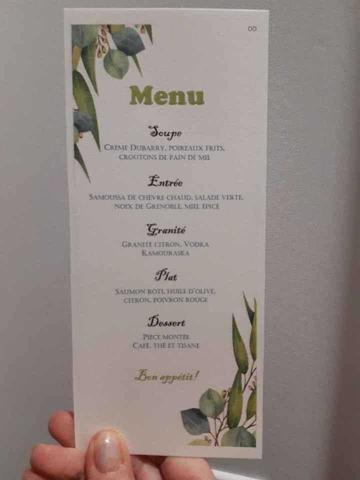 Forme et présentation du menu - 1