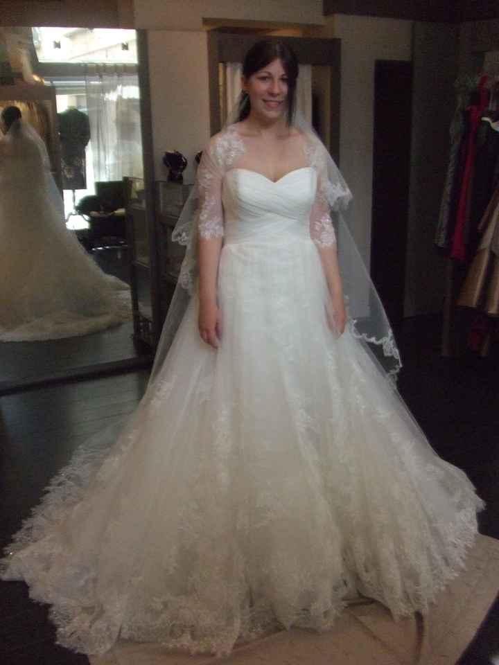Ma robe de mariée aux premiers essayages.