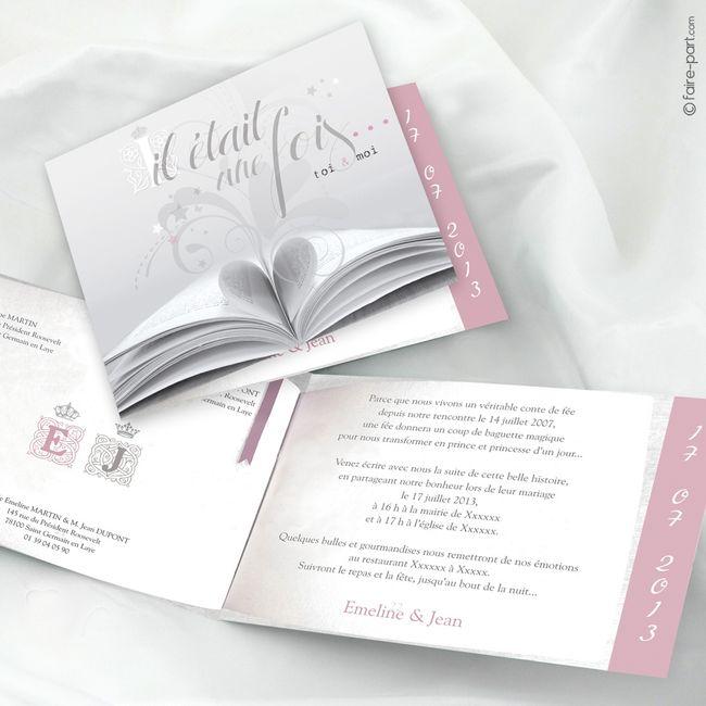 Exceptionnel Photo de vos faire part!!!!! - Page 45 - Avant le mariage - Forum  CV87