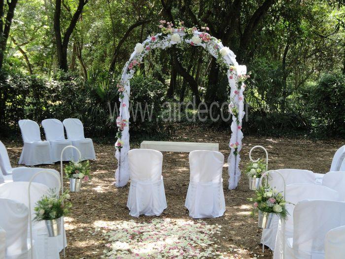 C r monie la que arche ronde ou carr e d coration forum - Decoration arche mariage ...