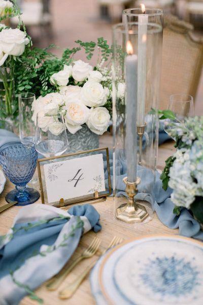 Mariage inspiration camaïeu de bleu 3