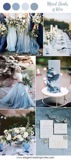 Mariage inspiration camaïeu de bleu 7