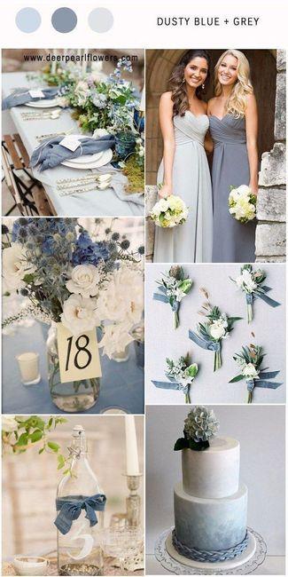 Mariage inspiration camaïeu de bleu 10
