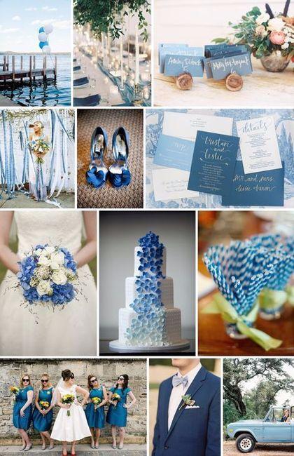 Mariage inspiration camaïeu de bleu 11