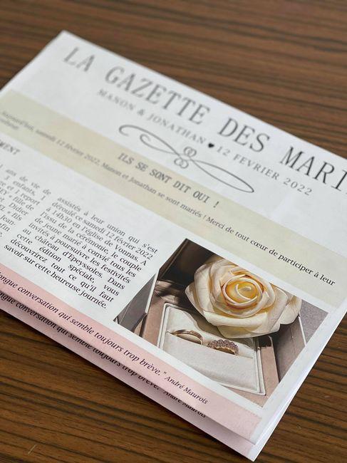Ma gazette des mariés 1