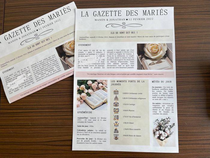 Ma gazette des mariés 2