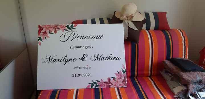 Panneau de mariage personnalisé - 1