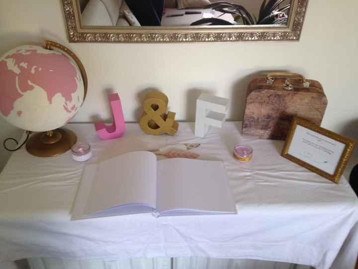 Essai table urne et livre d'or - 1