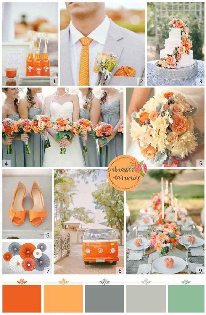 Orange comme couleur de mariage - 1