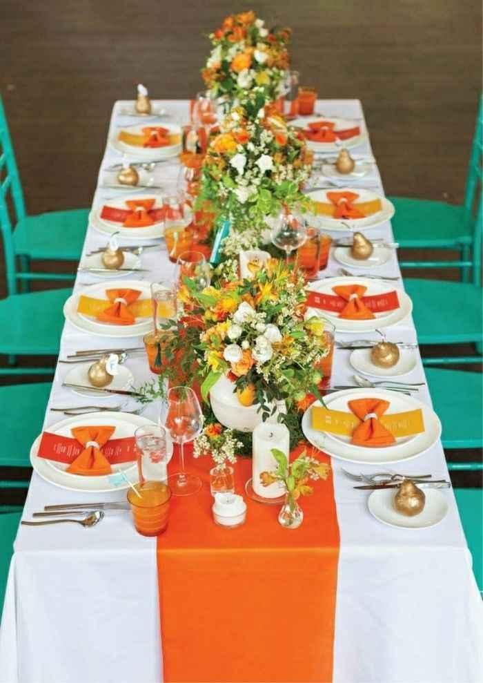 Orange comme couleur de mariage - 4