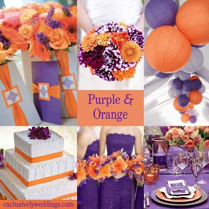 Orange comme couleur de mariage - 5