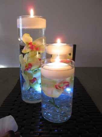vases fleurs immergées