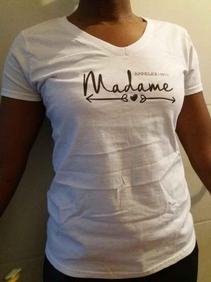 t-shirt lendemain mariage