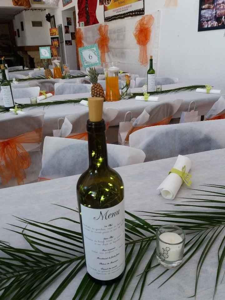 bouteille de vin led, avec le menu dessus