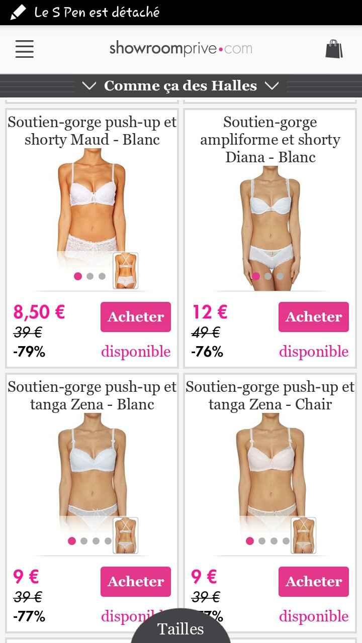 Bon plan lingerie sur showroom privé - 1