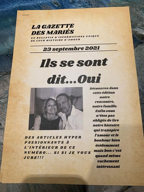 Gazette des mariés - 1