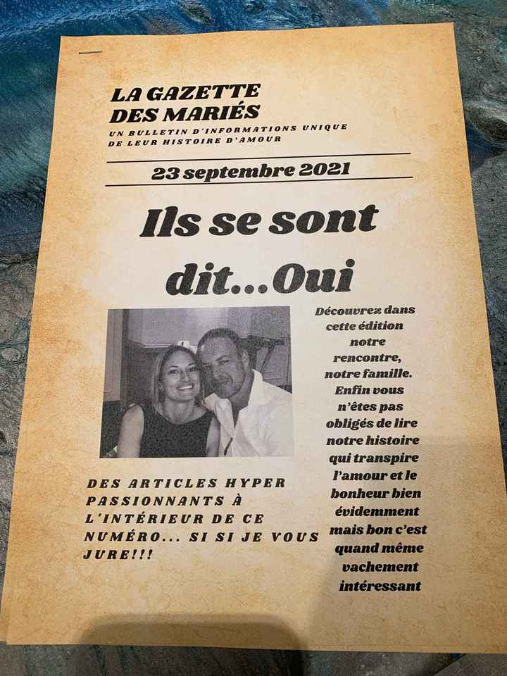 Premier jet gazette des mariés - 1