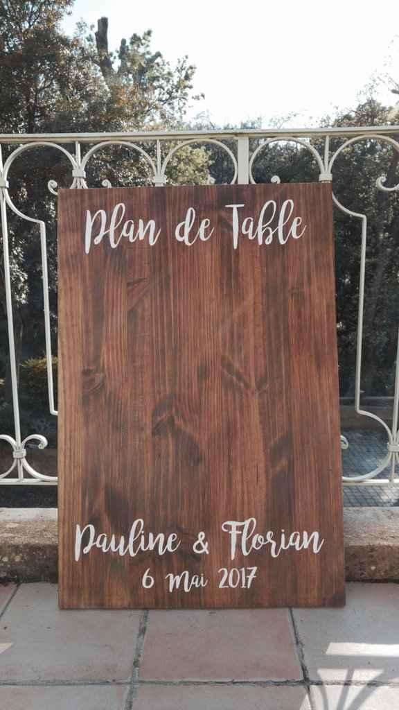 Panneau plan de table - 1