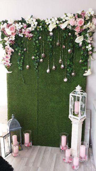 Mur végétal photobooth diy 4