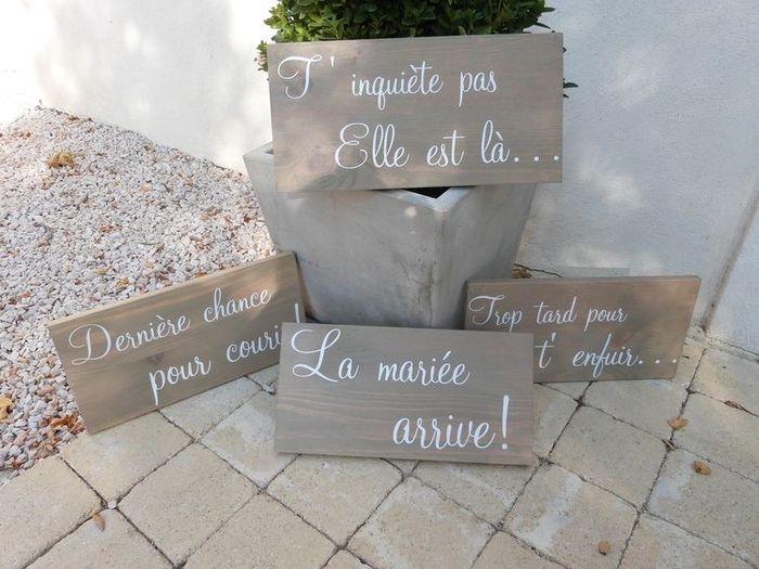 Pancartes arrivée des mariés 🙂 - 2