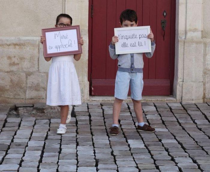Pancartes arrivée des mariés 🙂 - 4