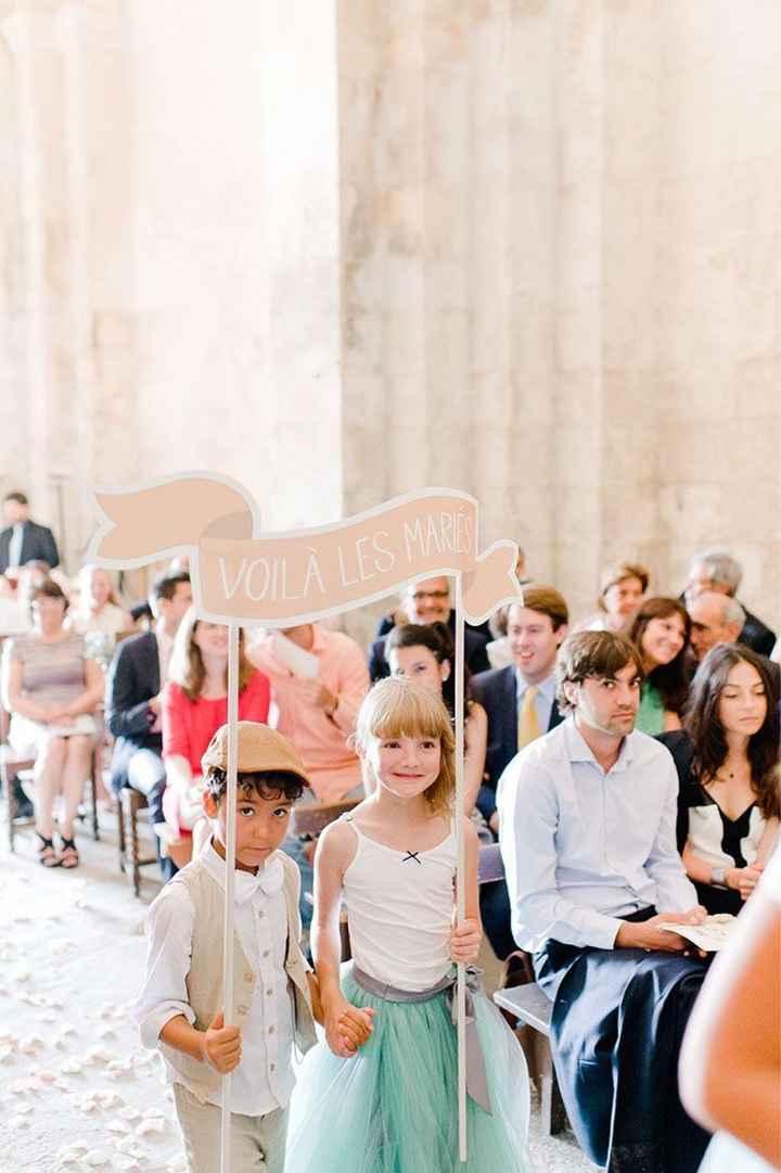 Pancartes arrivée des mariés 🙂 - 1
