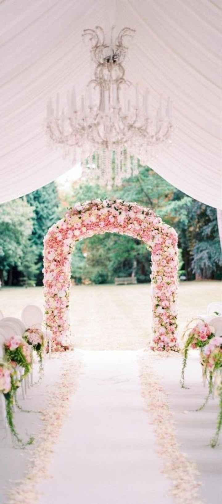 Mariage thème blanc touche de rose - 2