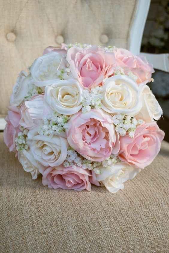 Mariage thème blanc touche de rose - 5