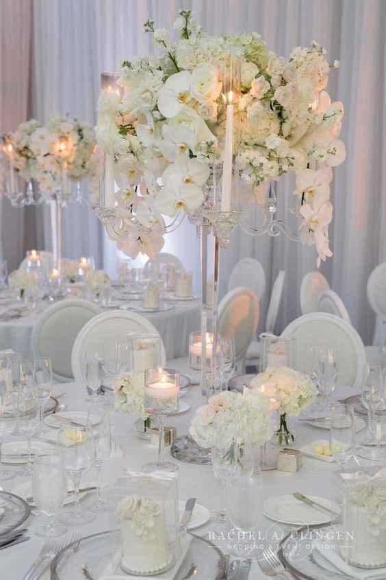 Mariage thème blanc touche de rose - 9