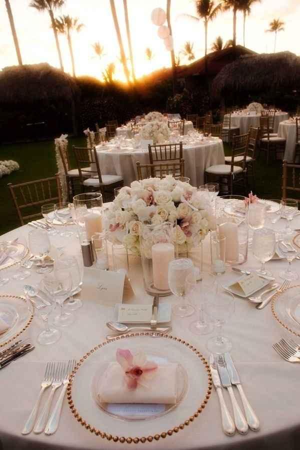 Mariage thème blanc touche de rose - 10
