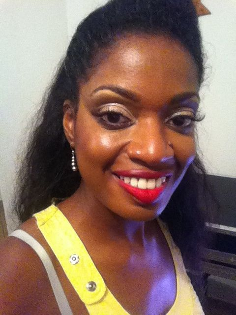 Voici mon essai maquillage sur peau noire - 2
