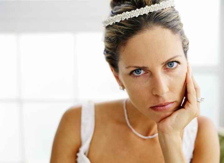 Mariée mécontente.