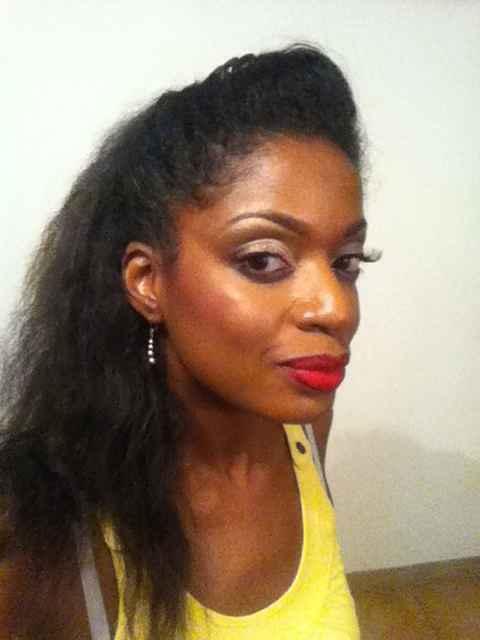 Voici mon essai maquillage sur peau noire - 1