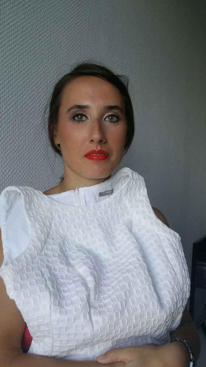 Maquillage avec rouge à lèvres
