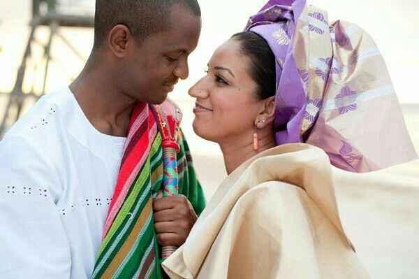 Mariage mixte- tenue traditionnelle - 1