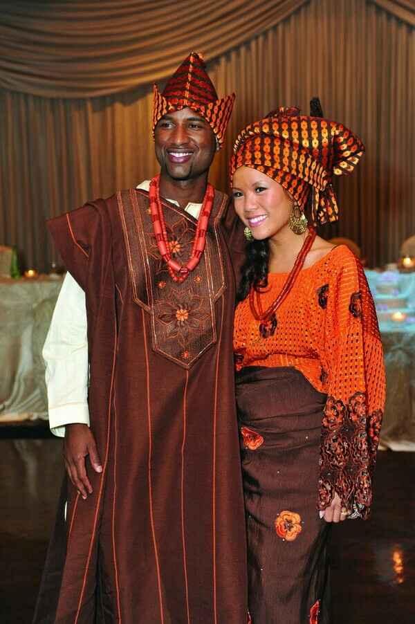 Mariage mixte- tenue traditionnelle - 8