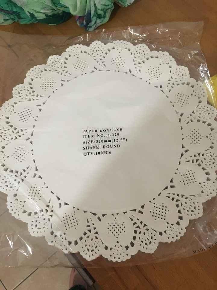 Cornets à confettis en napperons - 1