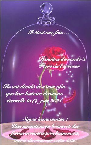 Nos save the date thème La Belle et la Bête 1