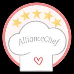 Future mariée Alliance chef. Tu es une experte culinaire ! Ton mariage aura le menu parfait ! Tu peux être fière d'arborer l'authentique médaille AllianceChef