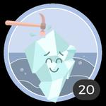 Briser la glace (20). Ce n'est pas toujours facile de briser la glace, mais tu n'as pas tourné longtemps autour du pot et tu es la première à commenter ces 20 discussions. Tu mérites cette médaille.
