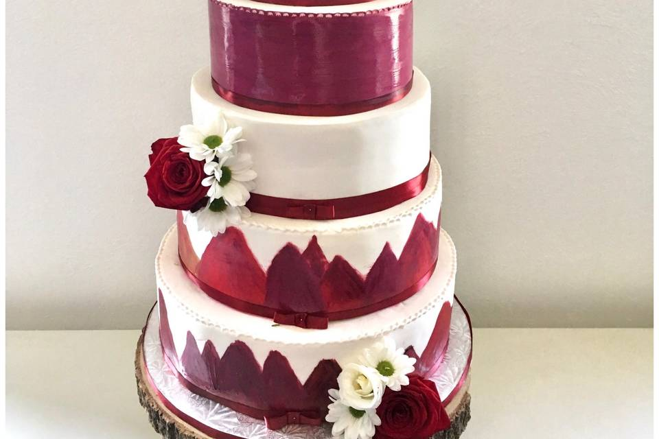 Wedding cake Bordeaux