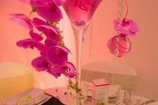 Vase Martini orchidée