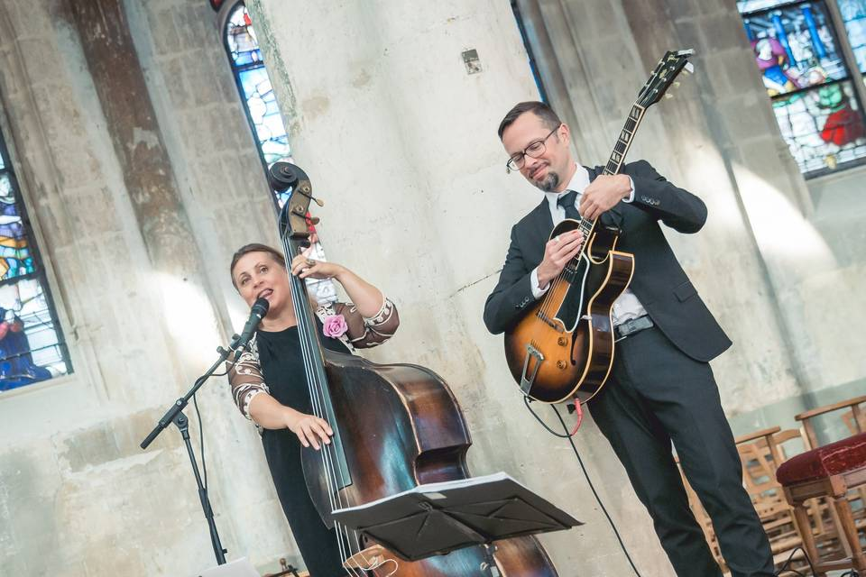 Cérémonie mariage duo jazz