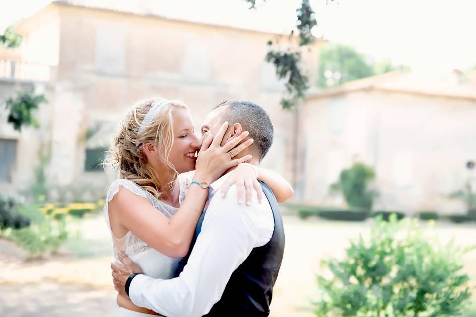 Couple au Chateau de la Mogère