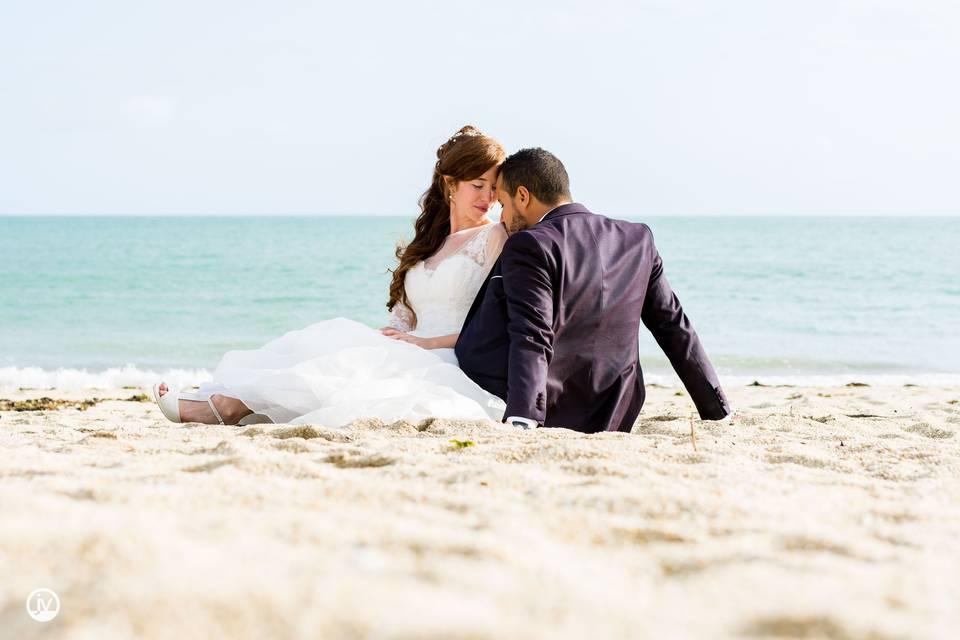 Photo de couple sur la plage